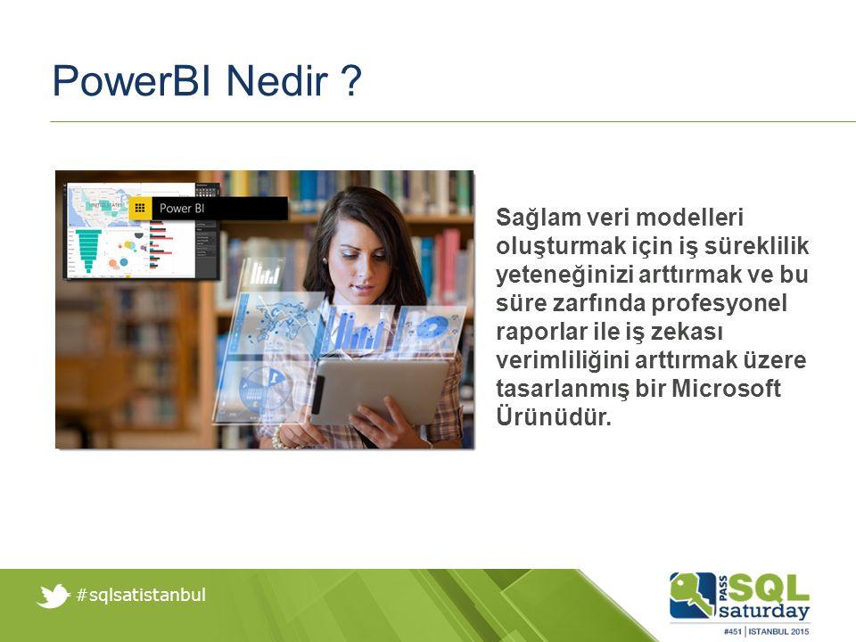 #sqlsatistanbul PowerBI Site PowerBI Sitelerine https://app.powerbi.com adresinden erişebilirsiniz.