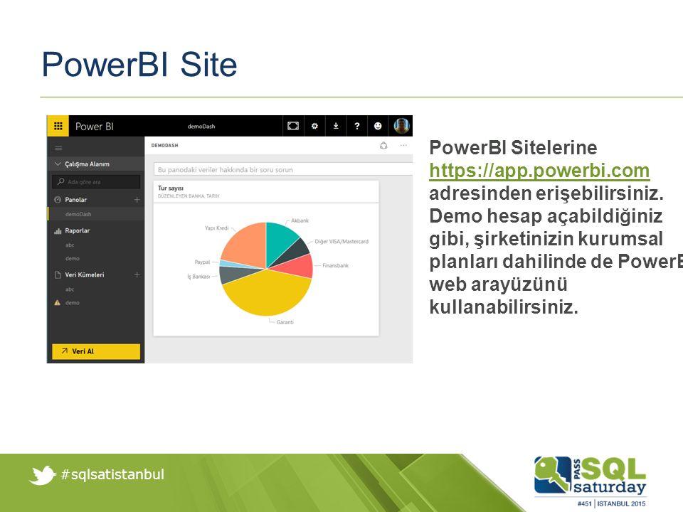 #sqlsatistanbul PowerBI Mobile PowerBI Mobil üzerinden de PowerBI Desktop ile hazırladığınız raporları aktarabilir ve paylaşabilirsiniz.