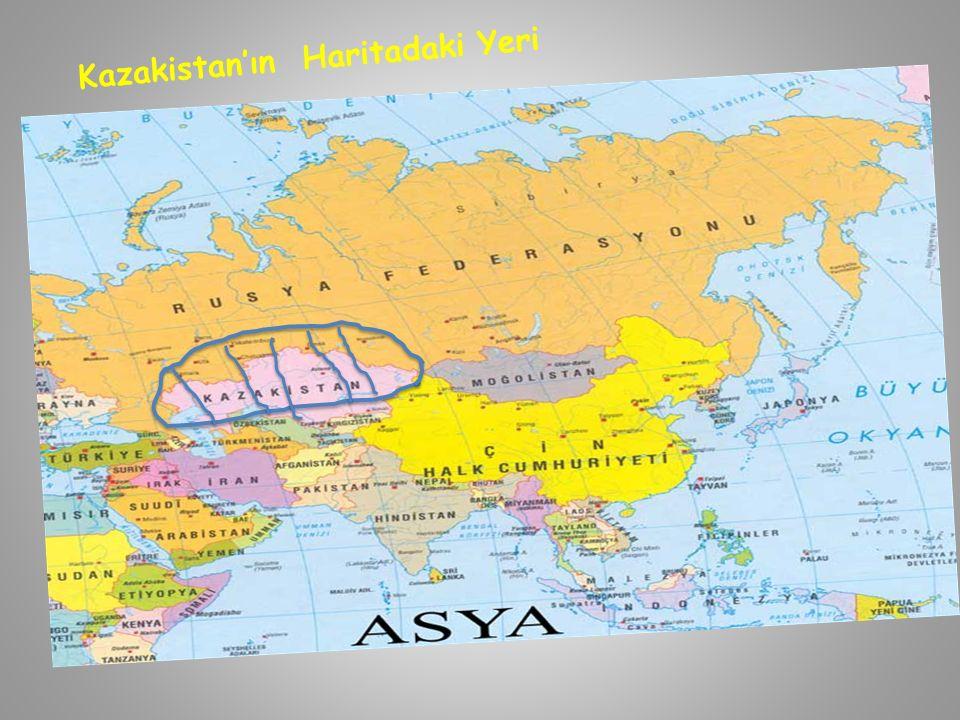 Kazakistan'ın Haritadaki Yeri