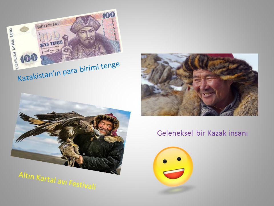 Kazakistan'ın para birimi tenge Altın Kartal avı Festivali Geleneksel bir Kazak insanı