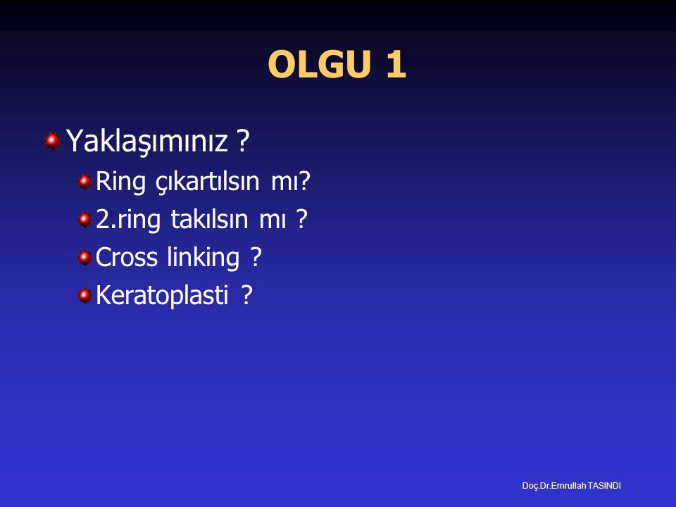 OLGU 1 Yaklaşımınız . Ring çıkartılsın mı. 2.ring takılsın mı .
