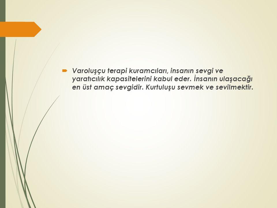 İnsanların Temel Motivasyonu  Frankl'a göre, insanın motivasyonu anlam arayışıdır.