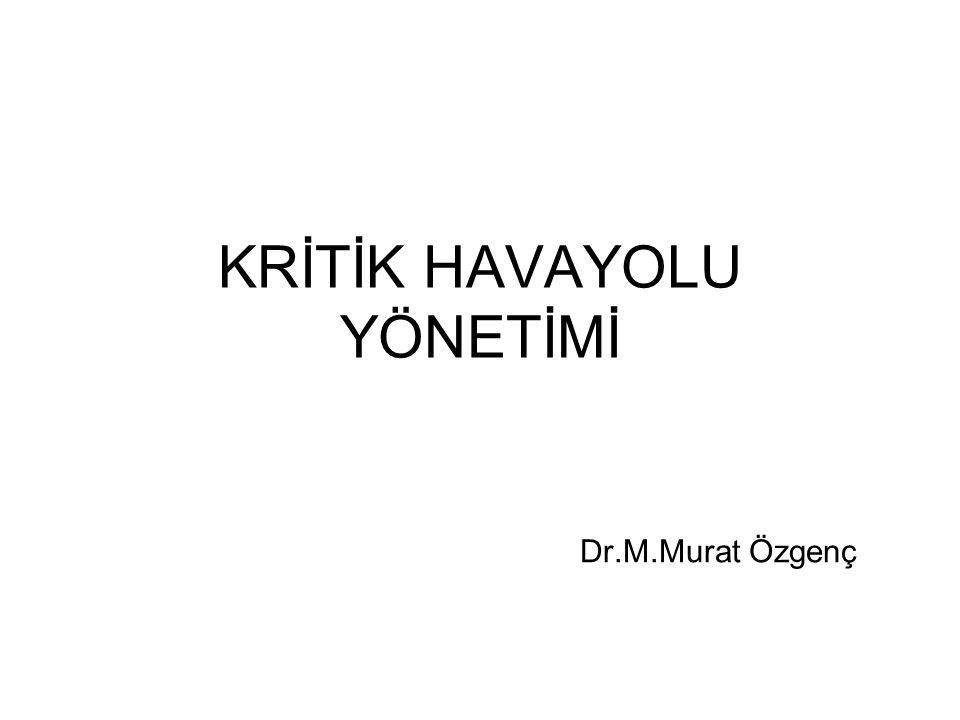 KRİTİK HAVAYOLU YÖNETİMİ Dr.M.Murat Özgenç