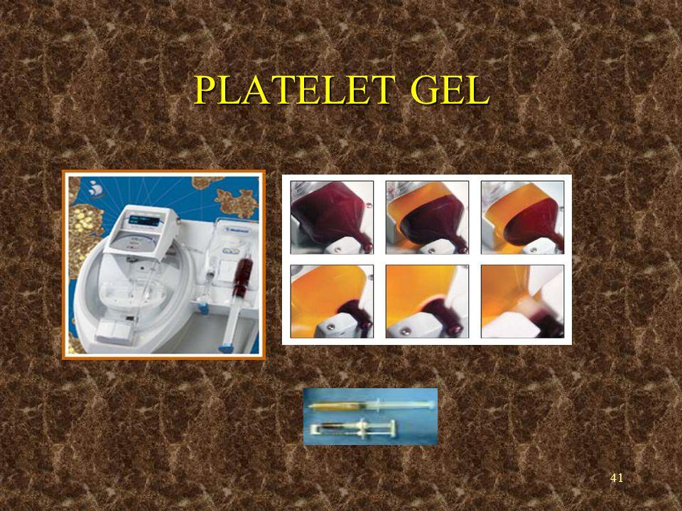 41 PLATELET GEL