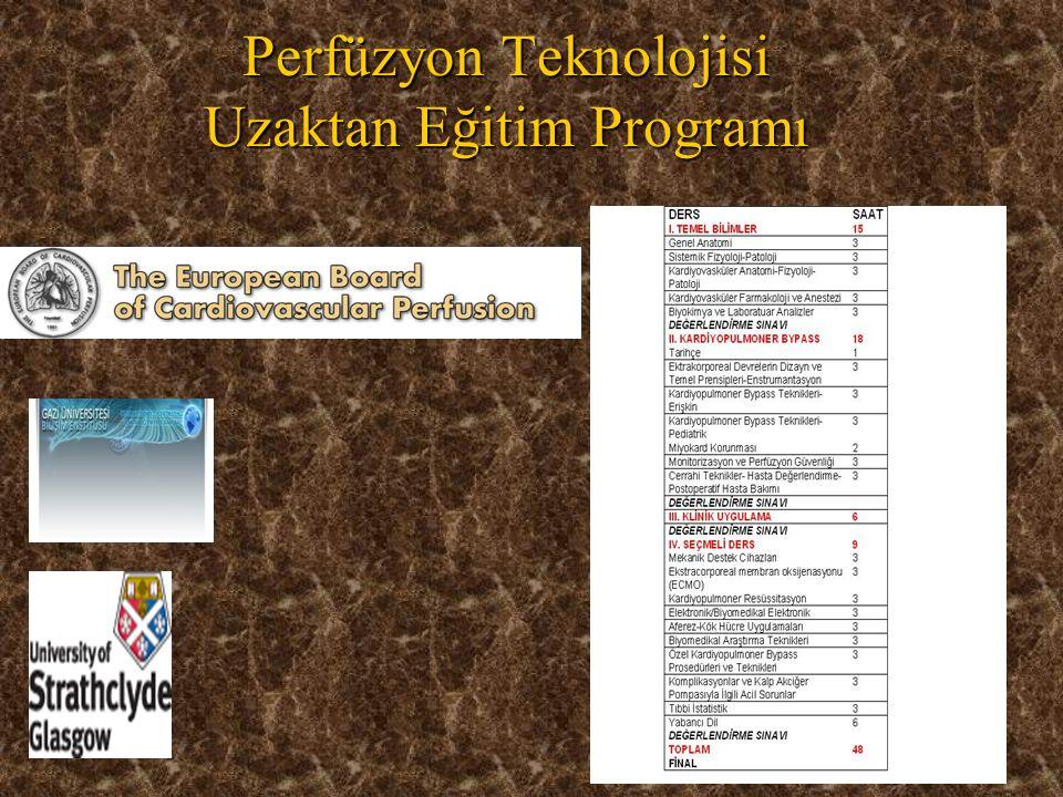 48 Perfüzyon Teknolojisi Uzaktan Eğitim Programı