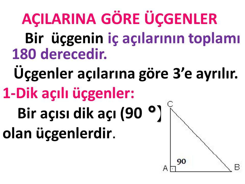 3.Çeşitkenar üçgen: Üç kenar uzunlukları da birbirinden farklı olan üçgenlerdir. Bu üçgenlerin iç açıları da birbirinden farklıdır.
