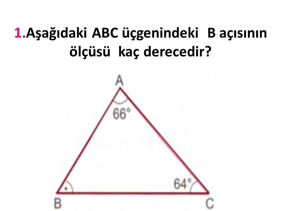 3-Dar açılı üçgenler:Tüm açıları dar açı olan üçgenlerdir.