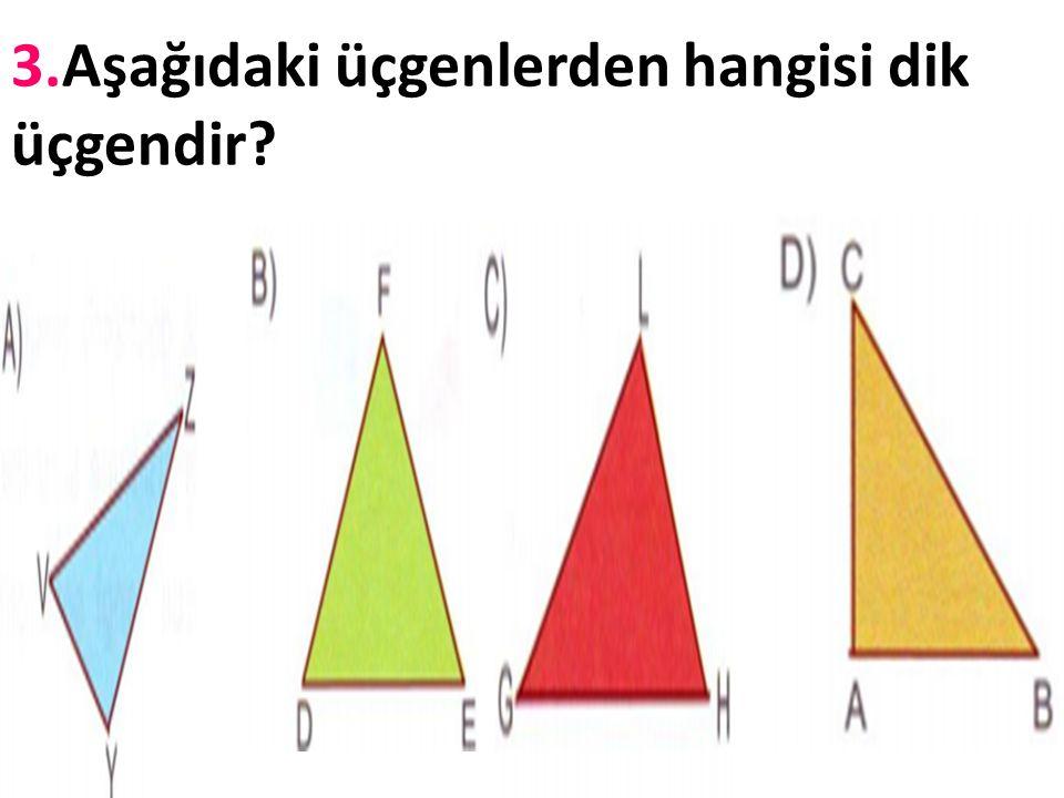 2.Aşağıdaki üçgen …………….. üçgendir. Açılarının kaçar derece olduğunu yazınız..