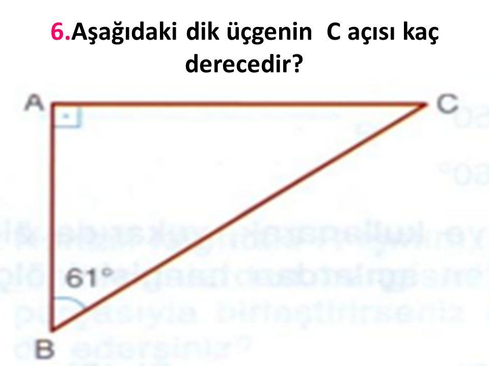 5. Aşağıdaki üçgenlerin kenarlarına göre çeşitlerini yazınız.