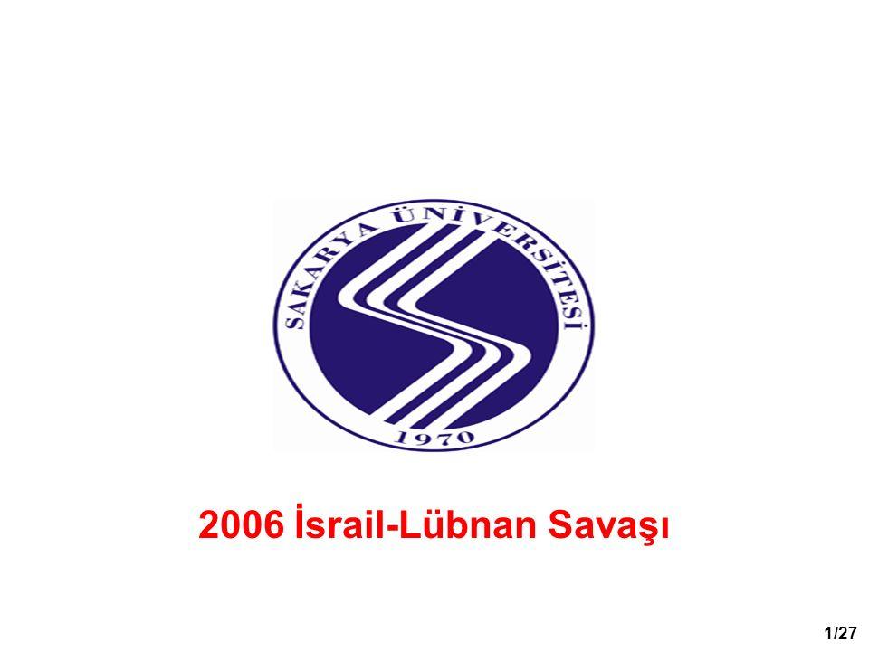 2006 İsrail-Lübnan Savaşı 1/27