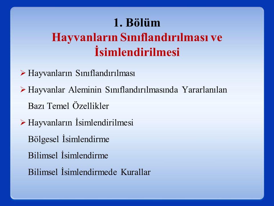 Linnaeus tarfından isimlendirilen bazı Omurgalı türleri aşağıda verilmiştir.