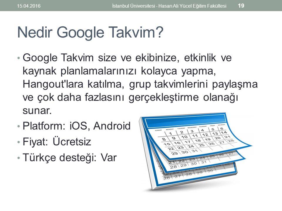 Nedir Google Takvim.
