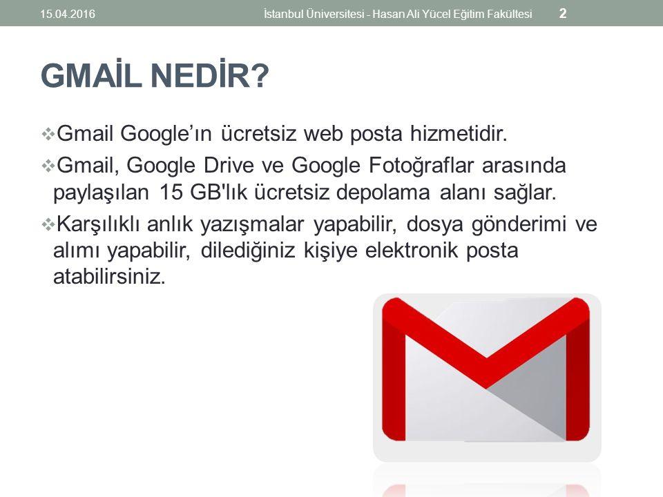 GMAİL NEDİR.  Gmail Google'ın ücretsiz web posta hizmetidir.