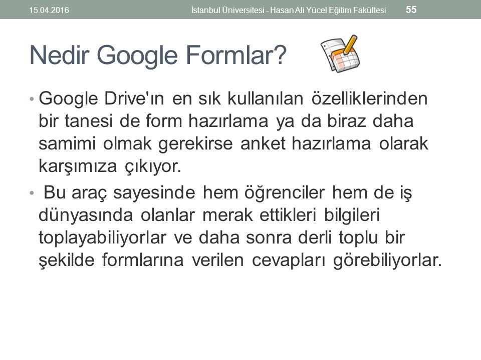 Nedir Google Formlar.