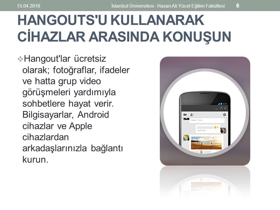 İlk Formu Oluşturmak 15.04.2016İstanbul Üniversitesi - Hasan Ali Yücel Eğitim Fakültesi 57