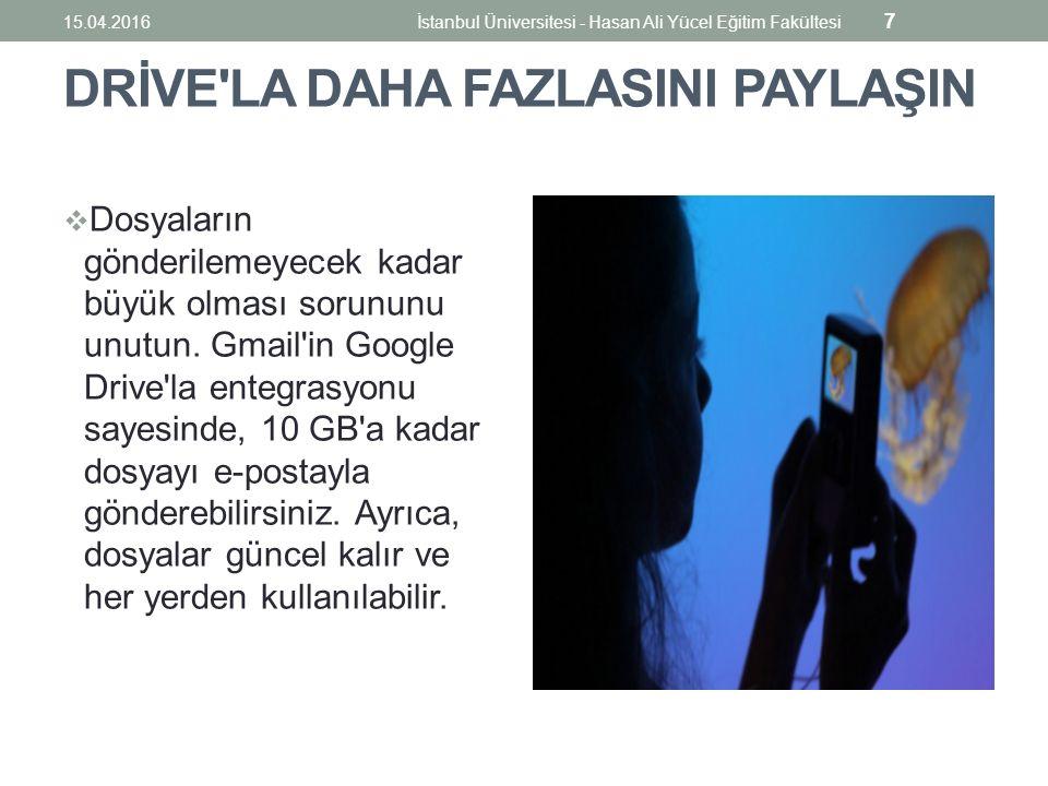 İlk Formu Oluşturmak 15.04.2016İstanbul Üniversitesi - Hasan Ali Yücel Eğitim Fakültesi 58