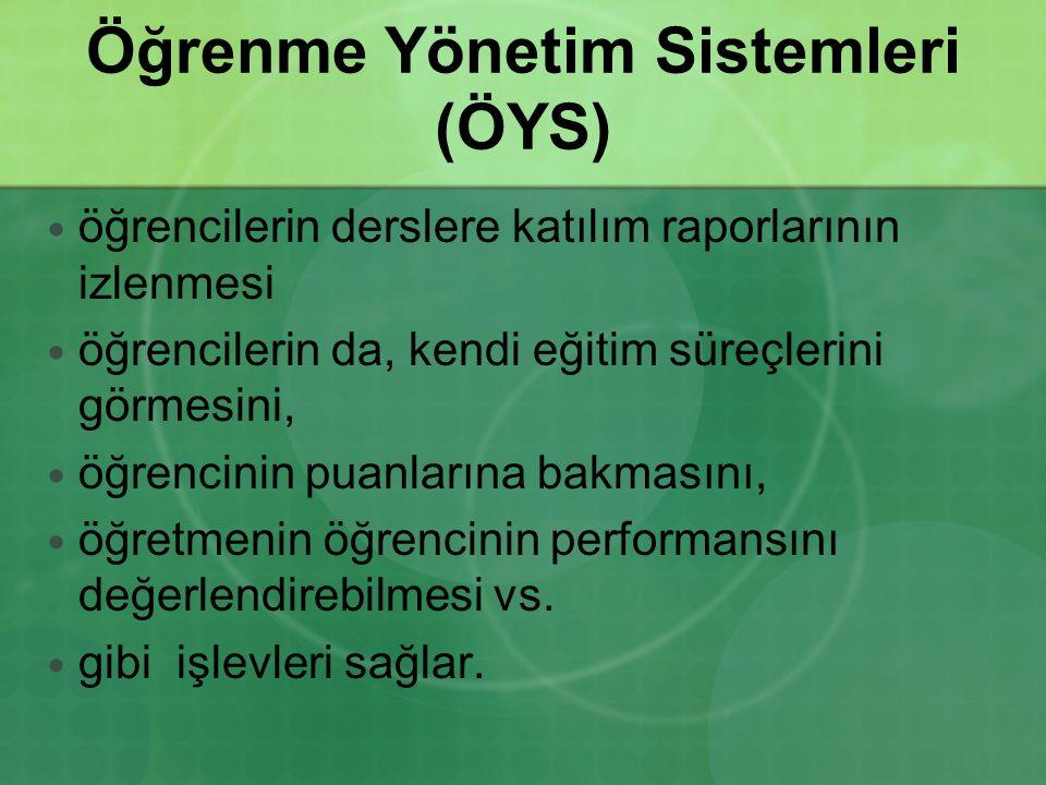 Öğrenme Yönetim Sistemleri (ÖYS) öğrencilerin derslere katılım raporlarının izlenmesi öğrencilerin da, kendi eğitim süreçlerini görmesini, öğrencinin