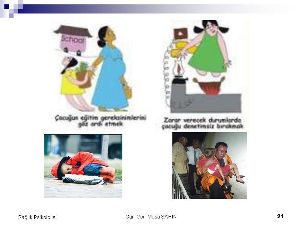 Öğr. Gör. Musa ŞAHİN 21 Sağlık Psikolojisi