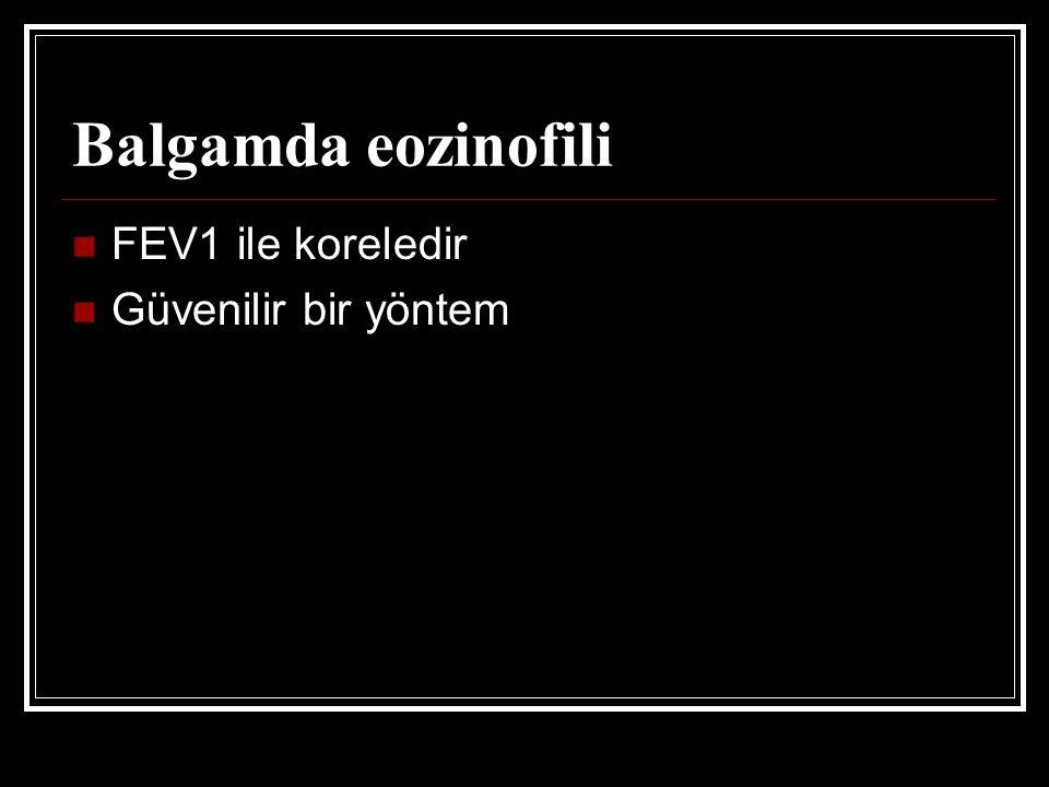 Balgamda eozinofili FEV1 ile koreledir Güvenilir bir yöntem