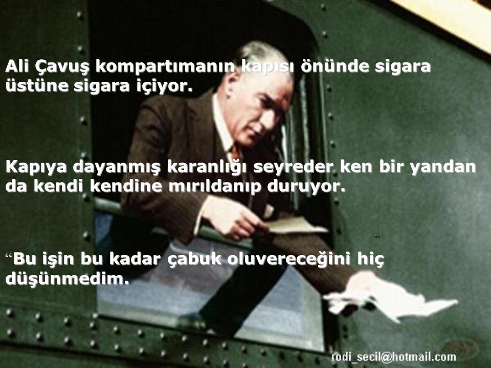 Yıl 1922. 14 Ocak gece yarısı. Mustafa Kemal'in özel treni Eskişehir'e doğru gidiyor.