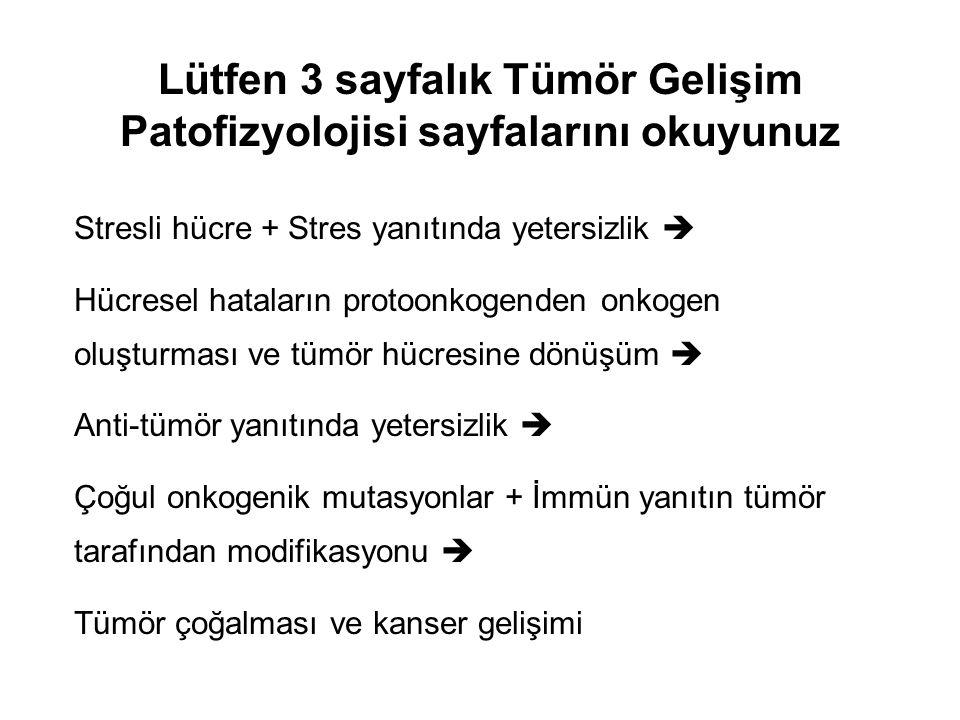 2 2 Protoonkogenlerimizin ve anti-tümör genlerimizin ürünleri