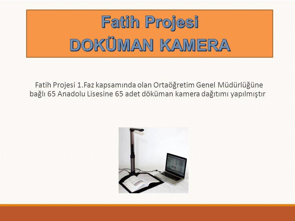 Fatih Projesi >>Fiber İnternet Fatih Projesi 1.Faz kapsamında olan Din Öğretimi Genel Müdürlüğü ile Ortaöğretim Genel Müdürlüğüne bağlı Ağ Alt yapısı kurulmuş olan 65 lisemizde Fiber İnternet kullanılmaktadır.