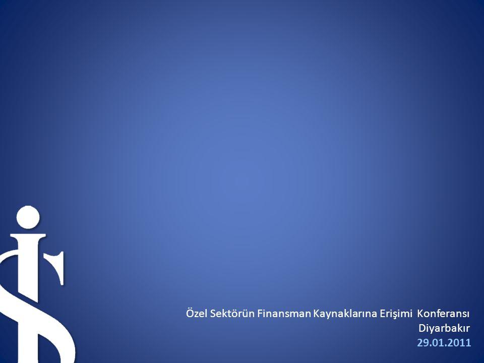 29.01.2011 Özel Sektörün Finansman Kaynaklarına Erişimi Konferansı Diyarbakır