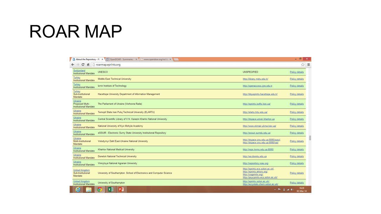 ROAR MAP