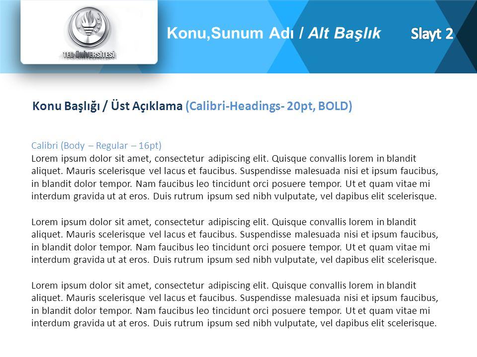 Calibri (Body – Regular – 16pt) Lorem ipsum dolor sit amet, consectetur adipiscing elit.