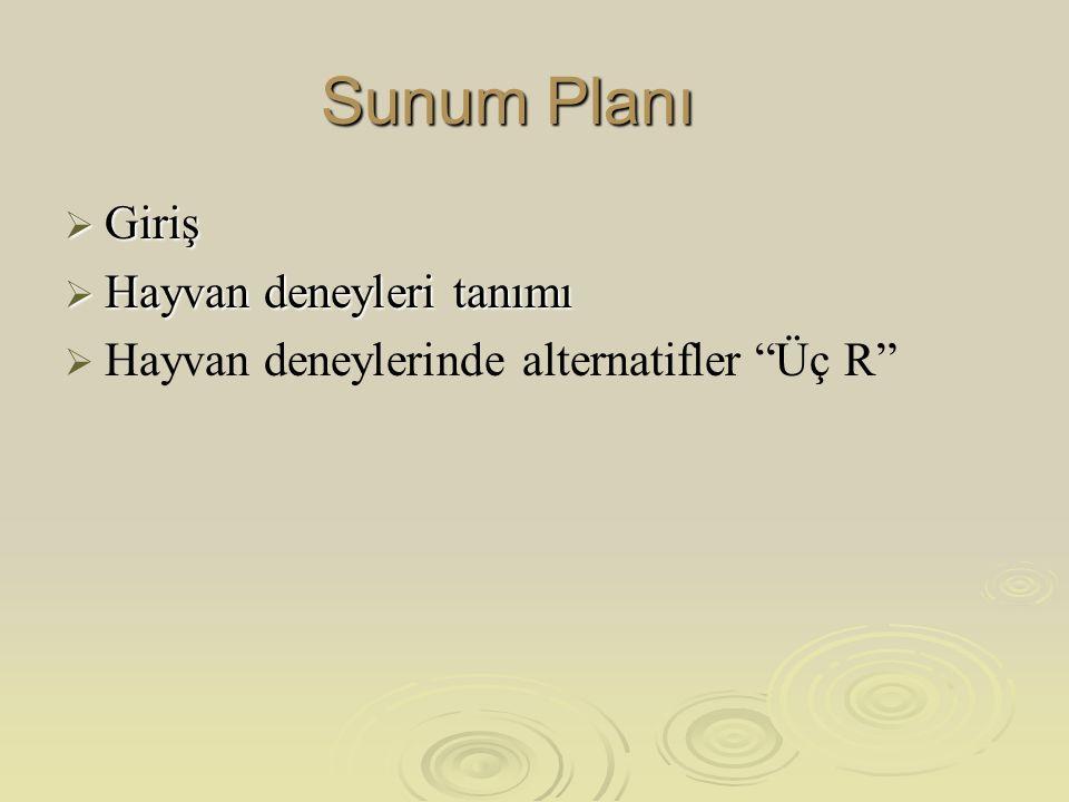 3 R 1. Replacement (Yerine Geçirme ) 2. Reduction (Azaltma) 3. Refinement (Arındırma)