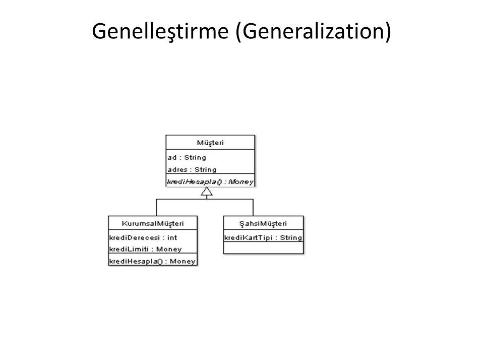 Genelleştirme (Generalization)