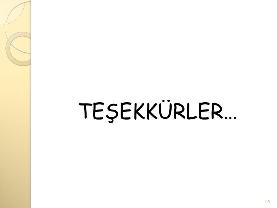 TEŞEKKÜRLER… 55