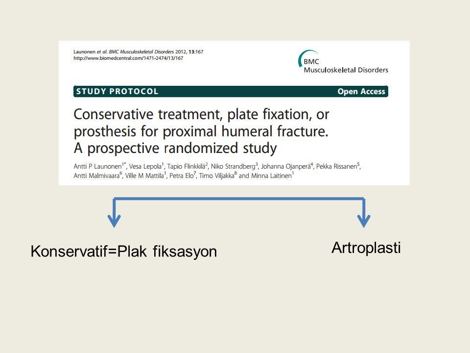 Konservatif=Plak fiksasyon Artroplasti