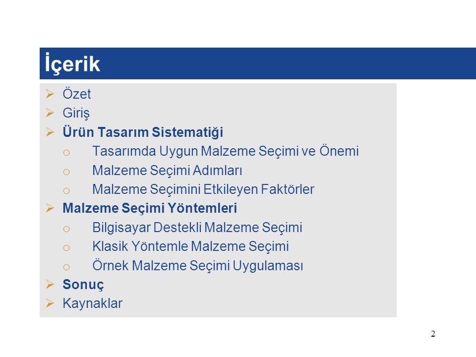 23 Kaynaklar 1.F. Fındık, Malzeme Seçimi ve Uygulamaları, Sakarya Yayıncılık, Sakarya 2008.