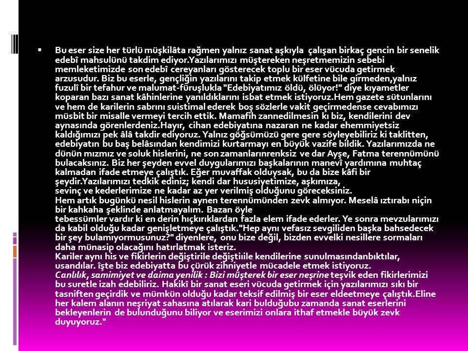 Başlangıçta gençlik dönemindeki şiir anlayışının dışına çıkmadan hece ölçüsüyle, bireysel duygularını ve karamsar iç dünyasını dile getirmiş, sonra ölçüsüz fakat uyaklı şiirler yazmıştır.