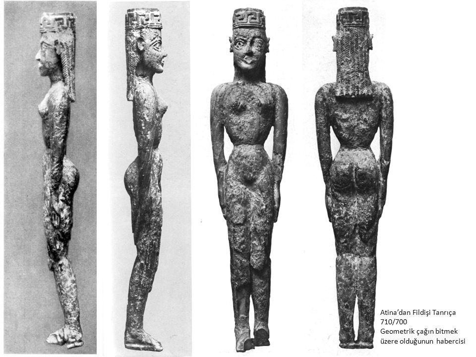 Atina'dan Fildişi Tanrıça 710/700 Geometrik çağın bitmek üzere olduğunun habercisi