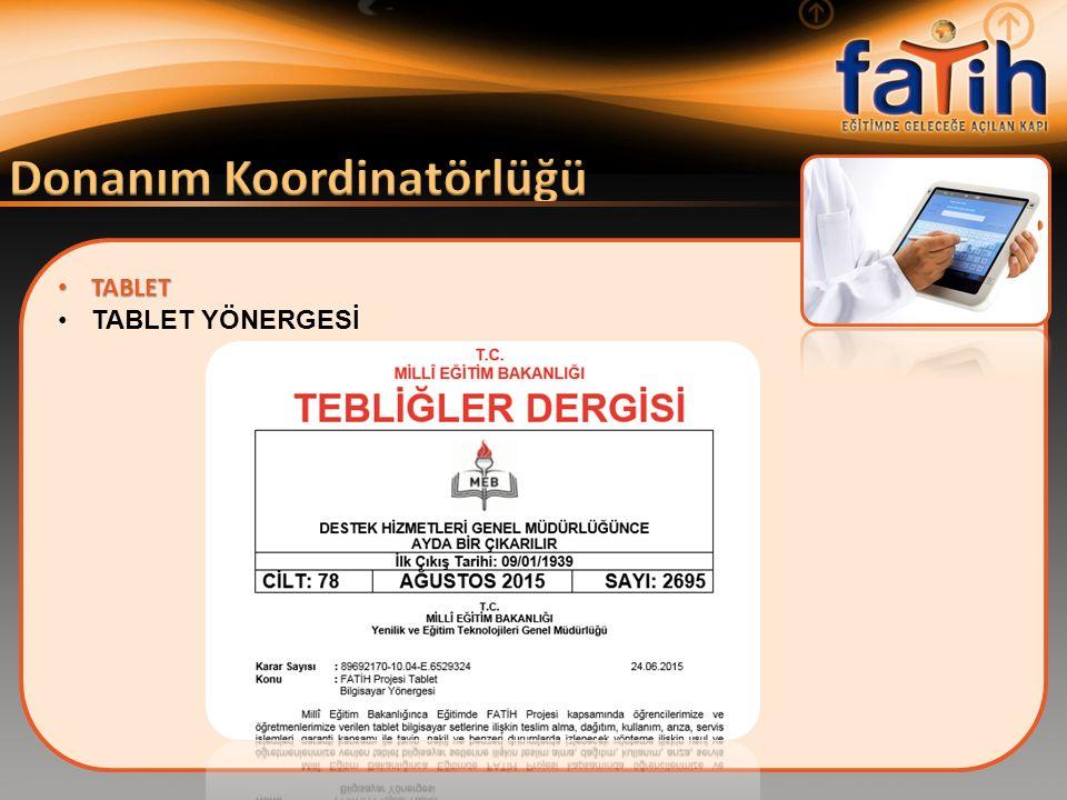 TABLET TABLET TABLET YÖNERGESİ