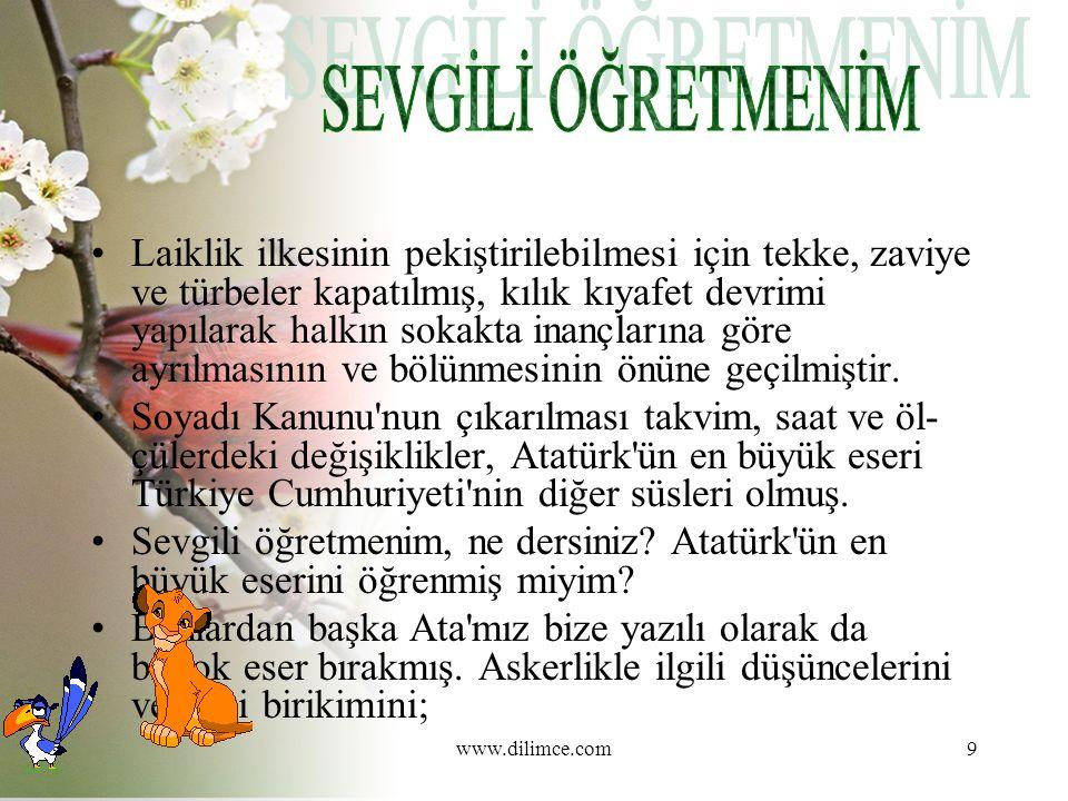 www.dilimce.com20 Yazma Bir metinden hareketle yeni bir metin oluşturma yöntemiyle yazma etkinliği yapılır.