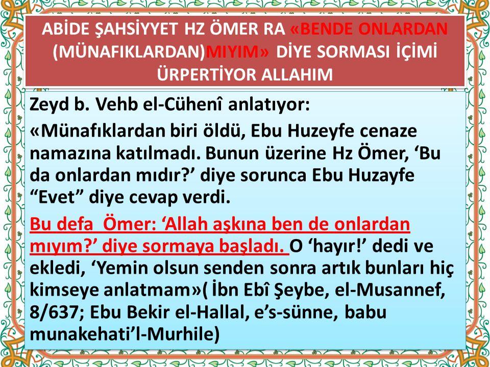 18) Münafıklar Allah'ın anılmasından hoşlanmazlar ve Allah yanlarında anılınca rahatsızlık hissederler.