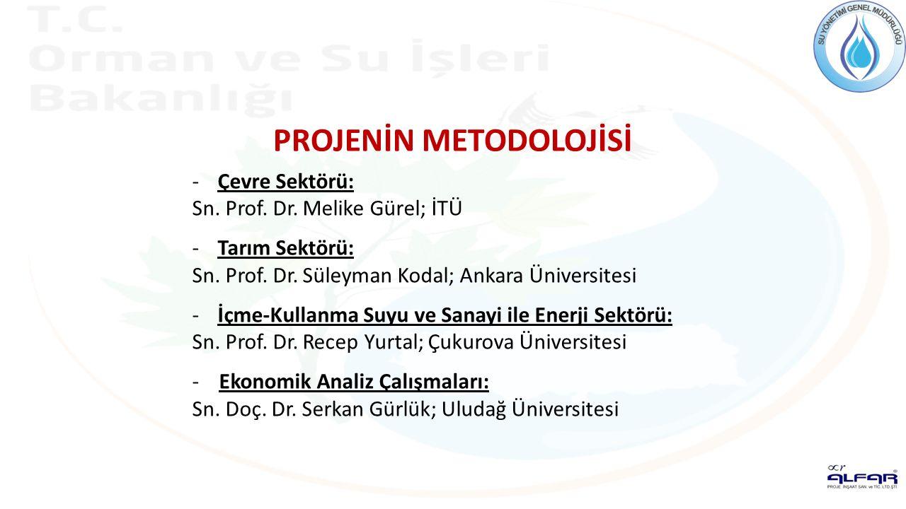 -Çevre Sektörü: Sn. Prof. Dr. Melike Gürel; İTÜ -Tarım Sektörü: Sn. Prof. Dr. Süleyman Kodal; Ankara Üniversitesi -İçme-Kullanma Suyu ve Sanayi ile En