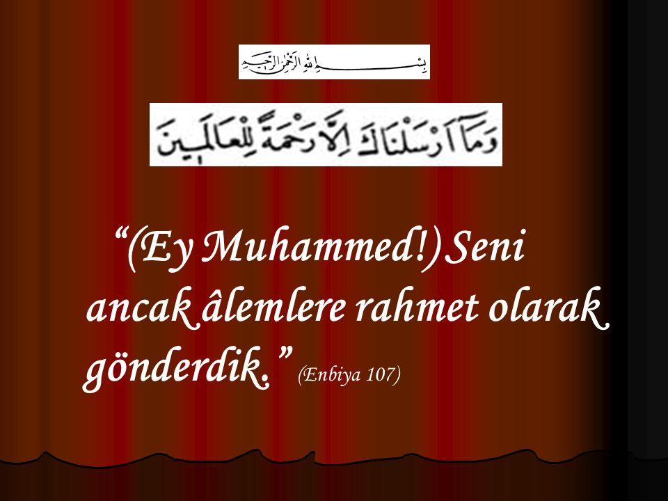 (Ey Muhammed!) Seni ancak âlemlere rahmet olarak gönderdik. (Enbiya 107)