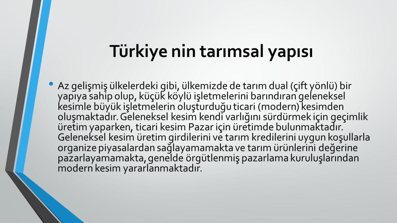 C- 4572 Sayılı Tarım Satış ve Tütün Tarım Satış Kooperatifleri; Türkiye'de ilk TSK hareketi 1915 yılında Aydın'da başlamış, günümüz anlamında ise 1937 yılında 2834 sayılı yasaya göre kurularak faaliyetine başlamıştır.