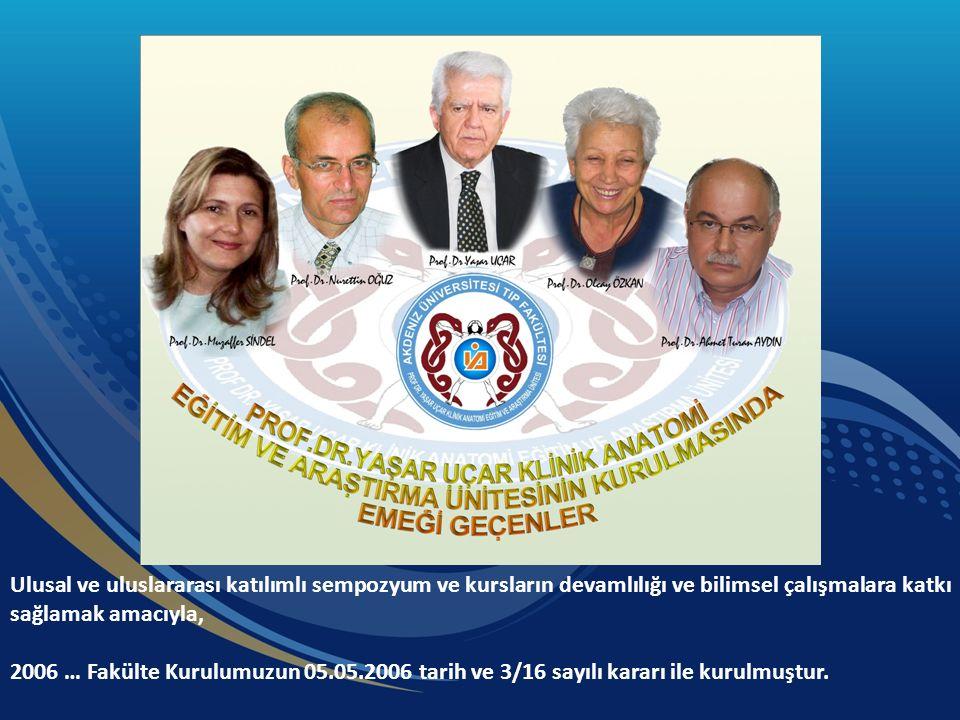 Ulusal ve uluslararası katılımlı sempozyum ve kursların devamlılığı ve bilimsel çalışmalara katkı sağlamak amacıyla, 2006 … Fakülte Kurulumuzun 05.05.2006 tarih ve 3/16 sayılı kararı ile kurulmuştur.