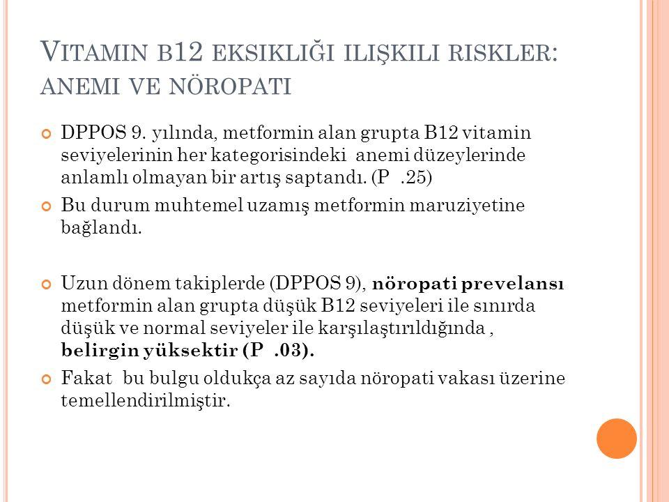 V ITAMIN B 12 EKSIKLIĞI ILIŞKILI RISKLER : ANEMI VE NÖROPATI DPPOS 9.