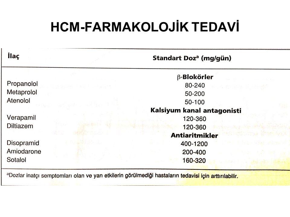 HCM-FARMAKOLOJİK TEDAVİ