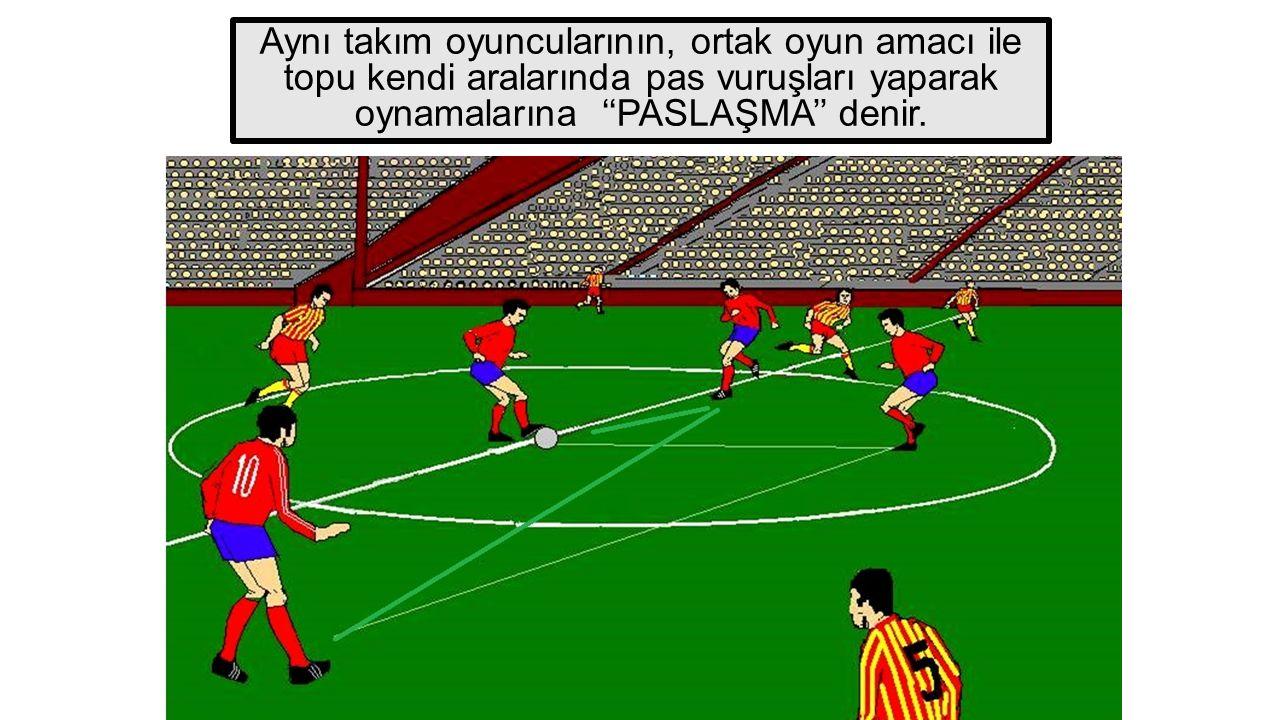 Aynı takım oyuncularının, ortak oyun amacı ile topu kendi aralarında pas vuruşları yaparak oynamalarına ''PASLAŞMA'' denir.