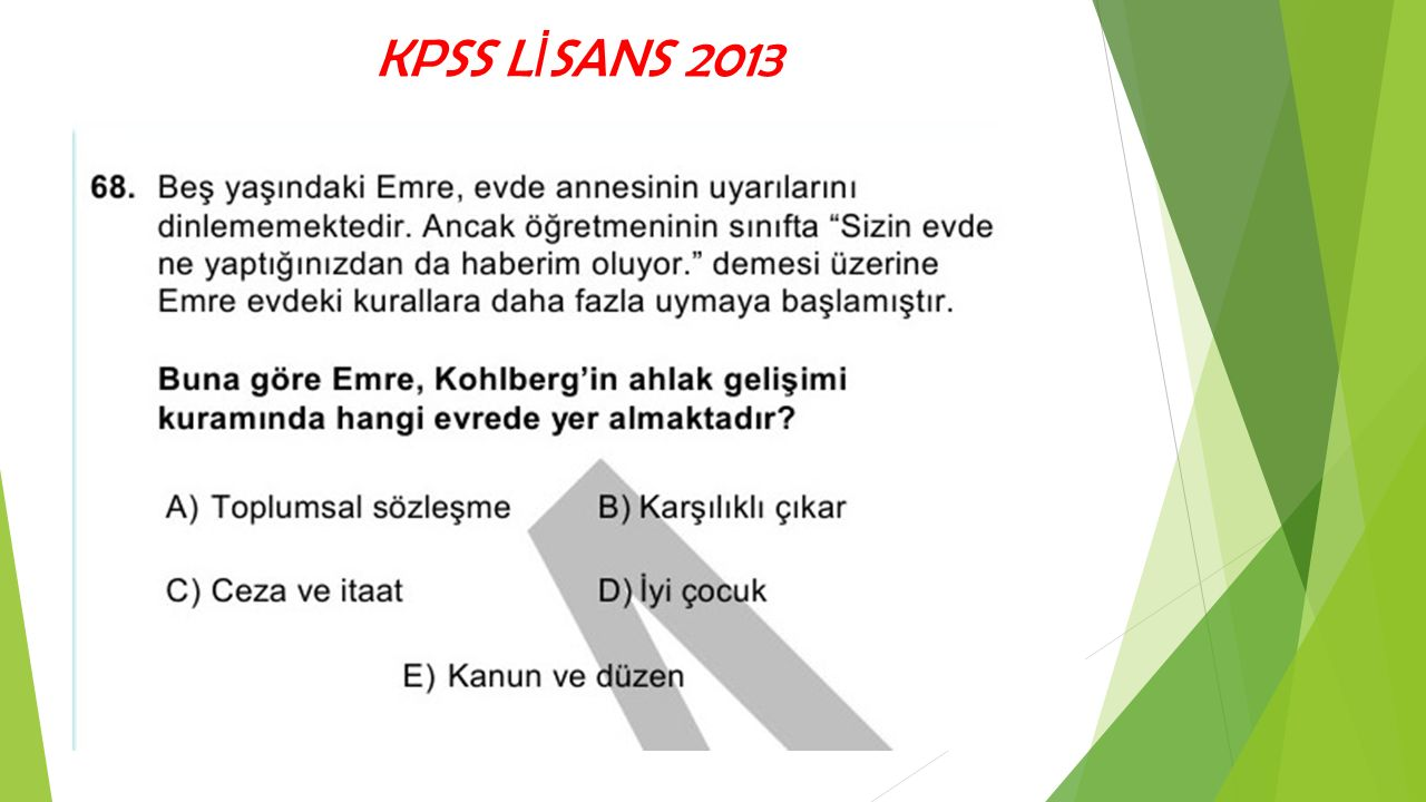 KPSS L İ SANS 2013