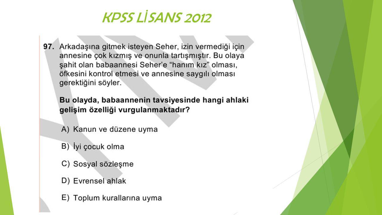 KPSS L İ SANS 2012