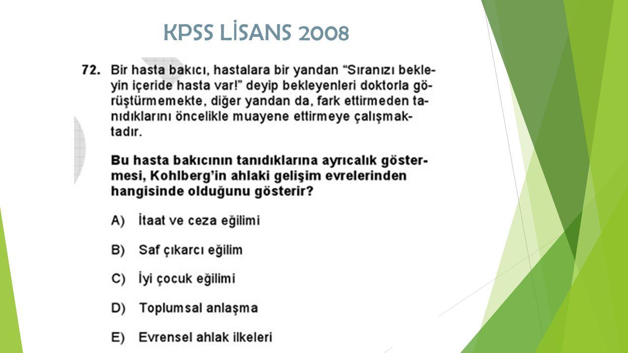 KPSS L İ SANS 2008