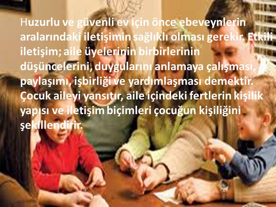 Çocukla İyi Bir İletişim Kurabilmek için aşağıdaki noktalar dikkate alınmalıdır; 1.DİNLEMEYİ ÖĞRENMEK 2.TARTIŞMAYI ÖĞRENMEK 3.ELEŞTİRİYE TAHAMMÜL 4.AİLE İÇİ İLETİŞİM 5.SÖZLÜ MESAJ 6.SÖZSÜZ MESAJ 7.TUTARLILIK 8.DOĞAL OLMAK 9.ÖVGÜ 10.KIYASLAMAK 11.ZAMAN AYIRMA / İLGİ 1.EMPATİ 2.SEVGİYİ İFADE ETME 3.ÖFKEYİ KONTROL ETME 4.KARŞILIKLI GÜVEN DUYGUSU 5.DUYGULARINI İFADE ETME ŞANSI 6.ELEŞTİRİNİN DOZU 7.SAYGI 8.HOŞGÖRÜ 9.ÖĞÜT VERME 10.ÇOCUKLA ÇOCUK OLMA 11.SORULARIN CEVAPLANMASI